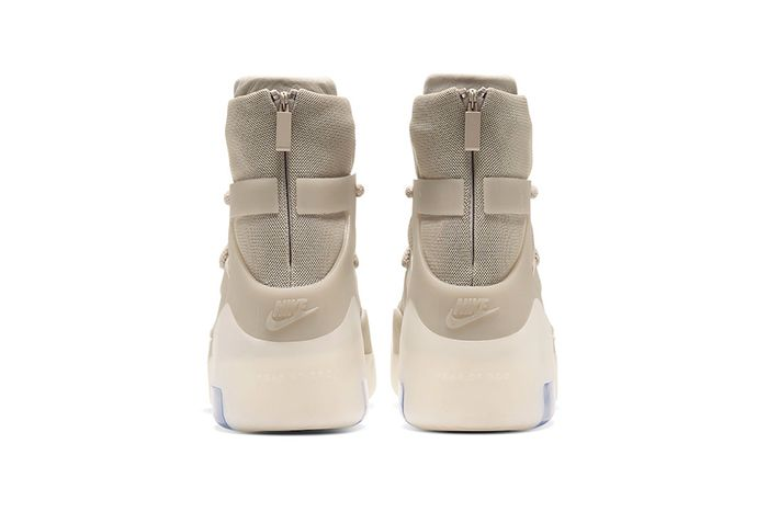 Nike Air Fear Of God 1 Oatmeal Ar4237 900 Release Date Heel