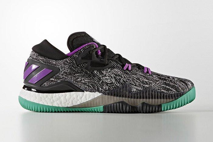Adidas Crazylight Boost Black Shock Purple 2
