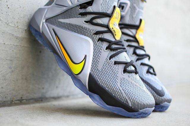 Nike Le Bron 12 Wolf Grey Bright Citrus 4