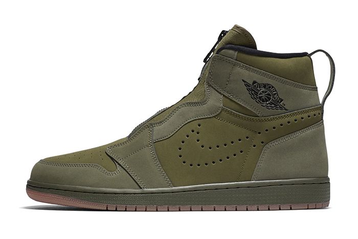 Air Jordan 1 High Zip Olive Canvas 1