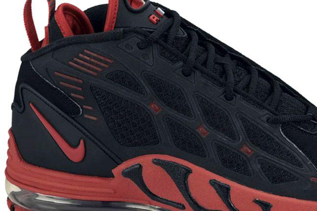 Nike Air Max Pillar Black Sport Red Heel 1