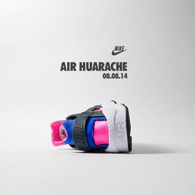 Nike Air Huarache Cobalt Magenta 4