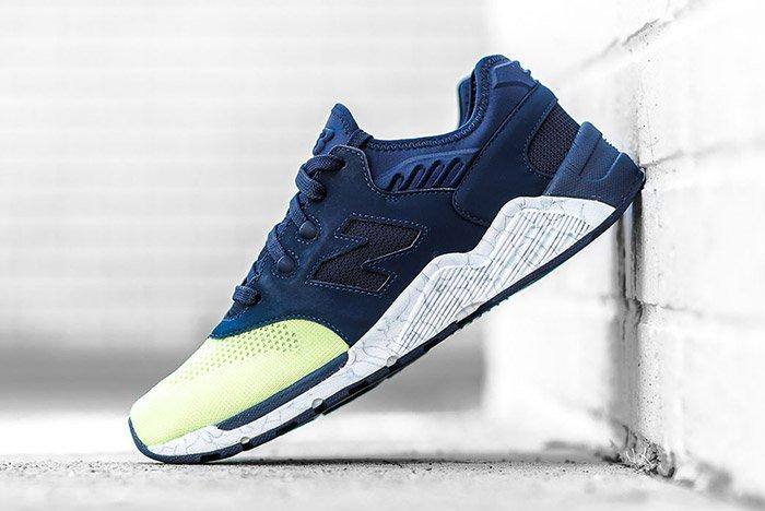New Balance 009 Navy Lime 1