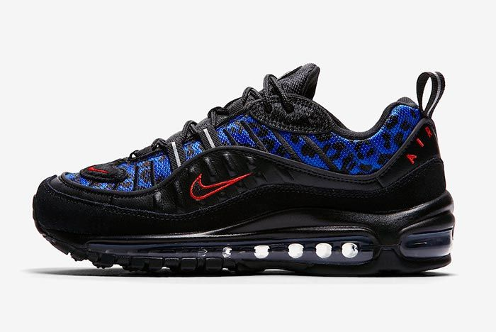 Nike Air Max 98 Black Leopard Left Shot