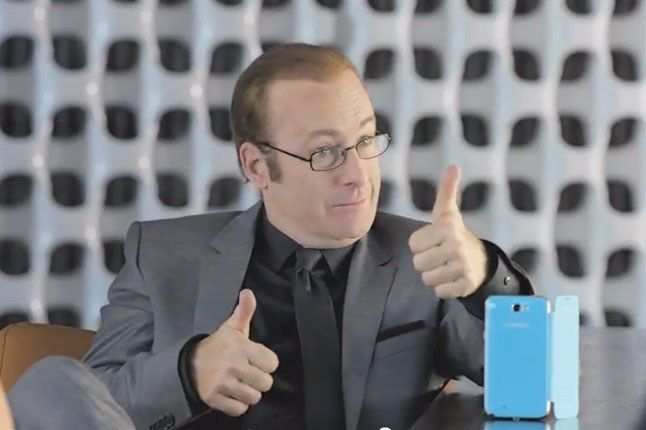 Samsung Galaxy Superbowl Ad 2013 Yeah That Works Thumbs Up 1