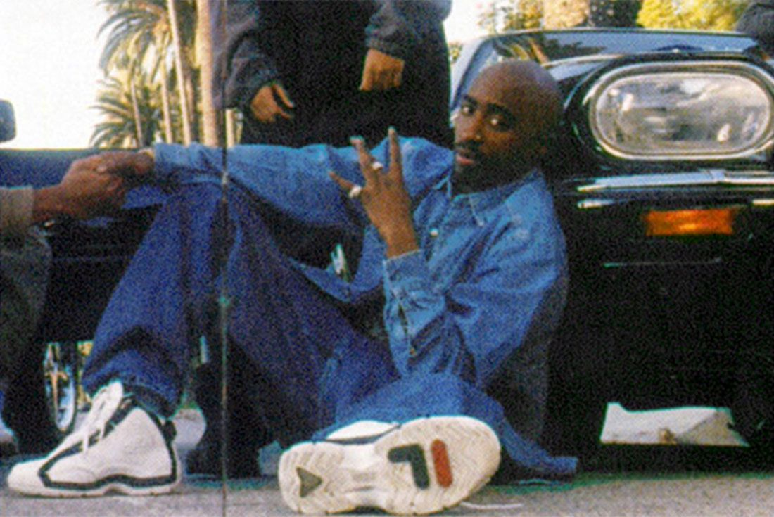 Tupac Wearing Fila Grant Hill 2
