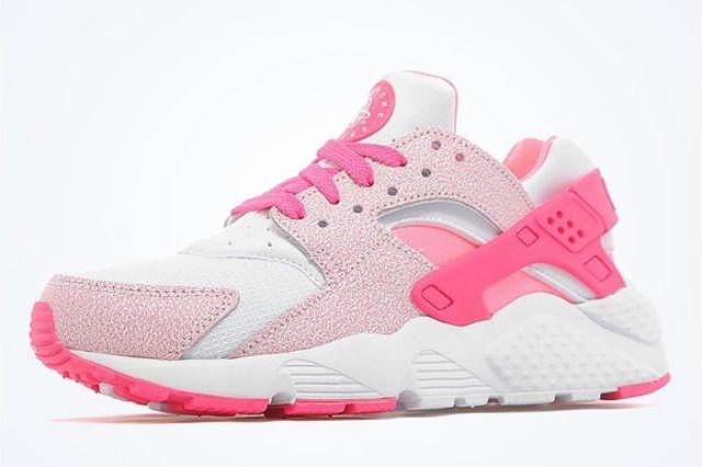 Nike Air Huarache Gs White Pink Pow 01