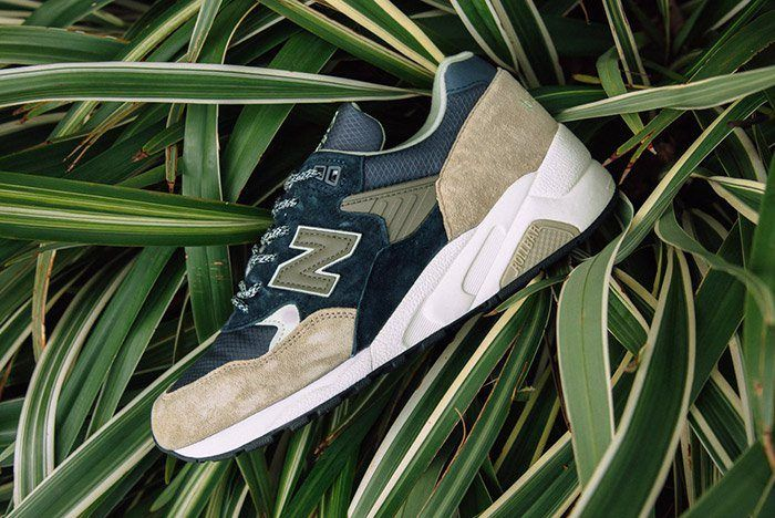 New Balance 585 Navy Olive 4