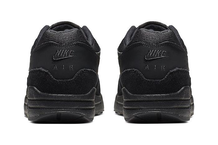Nike Air Max 1 Triple Black 319986 045 Release Date Heel
