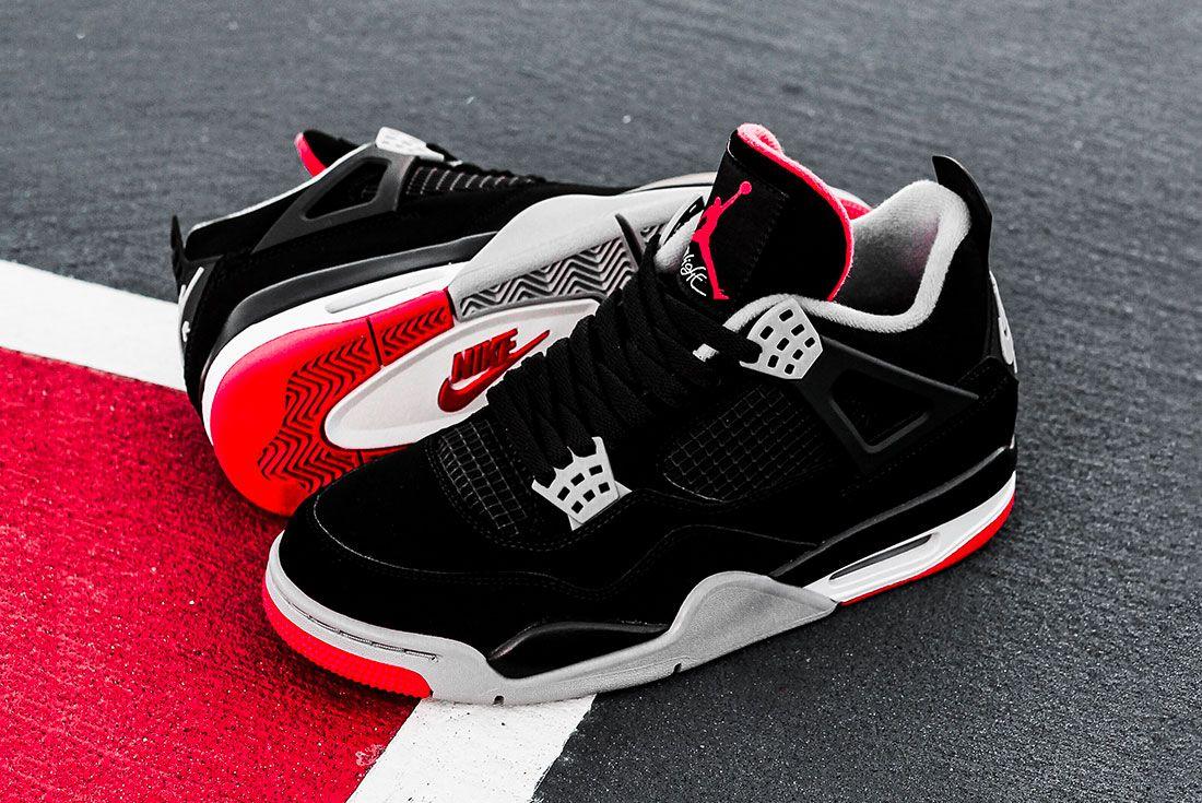 Air Jordan 4 Bred Jd Sports Family Sizes8 Pair