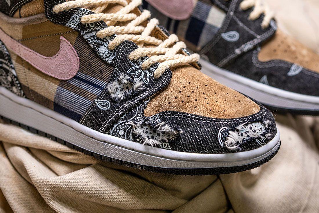 Bespokeind Travis Scott Air Jordan 1 Custom Bandana Sneaker Freaker Hero Shot2