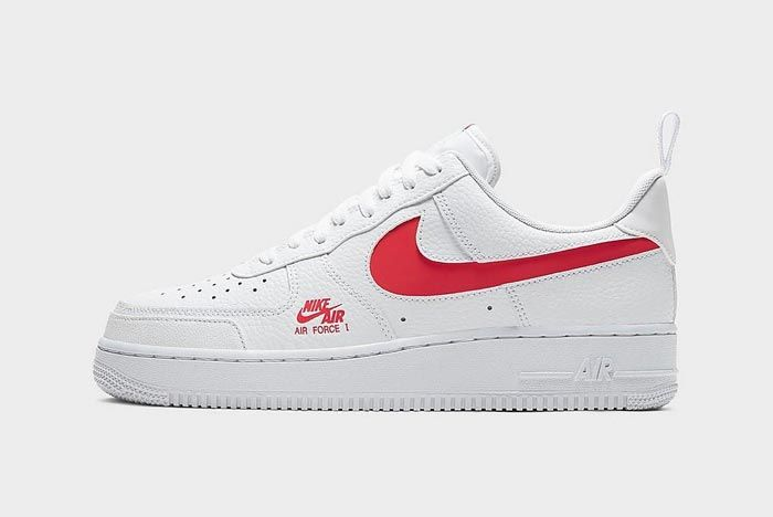 Nike Air Force 1 Lv8 Utility White Red Lateral