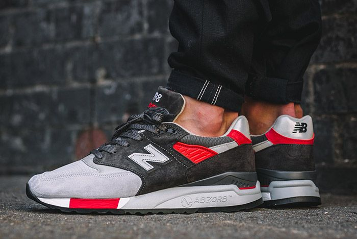 New Balance 998 Made In Usa Grey Red 5
