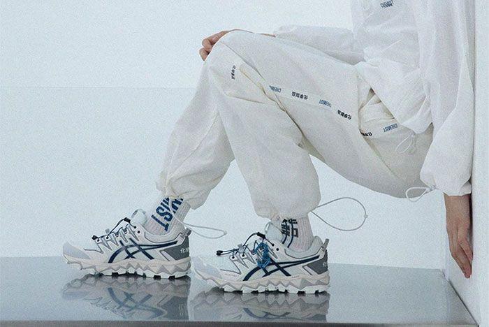 Chemist Creations Asics Gel Fujitrabuco White Full Side