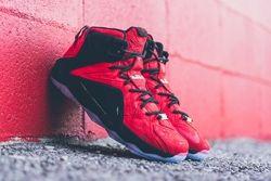 Nike Lbj12 Ext Red Paisley Thumb