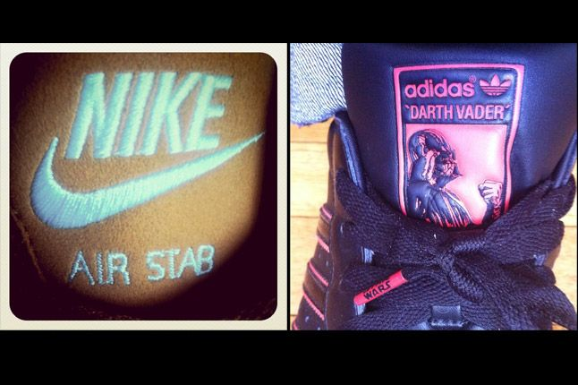Nike Air Stab Adidas Superstar Darth Vader 1