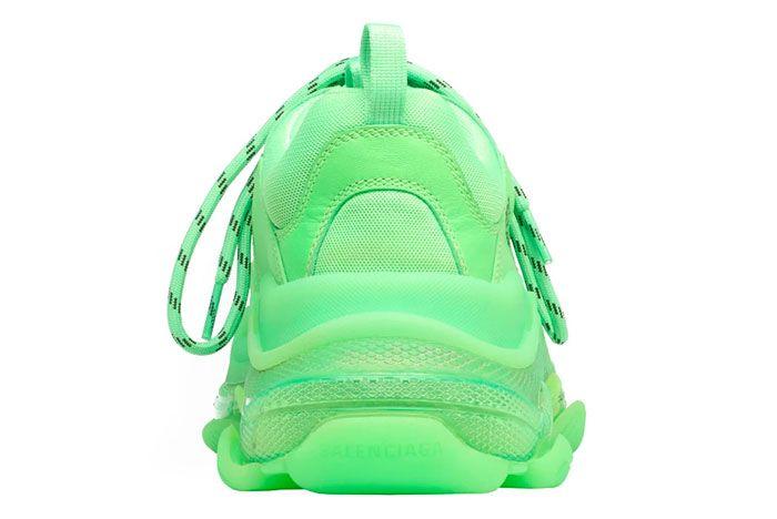 Balenciaga Triple S Neon Green Heel