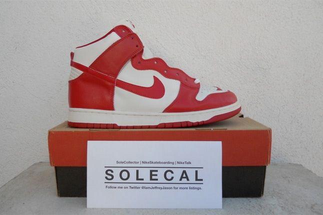 Nike Dunk Red White 1