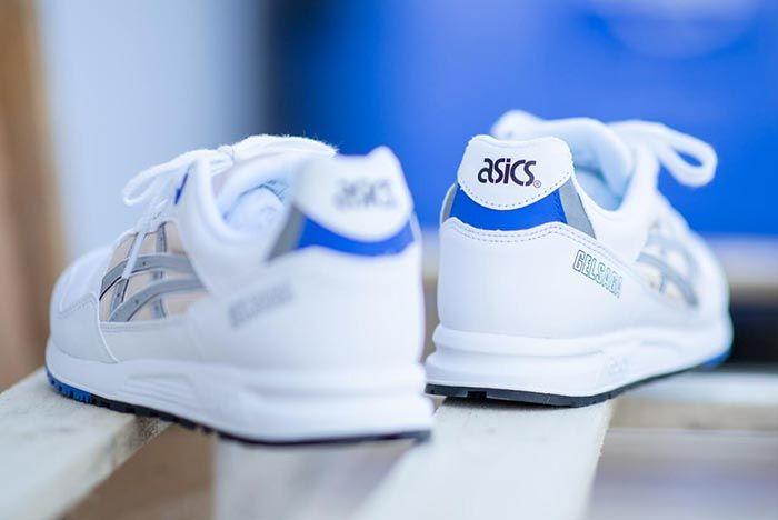 Asics Gel Saga White Silver Heel Shot
