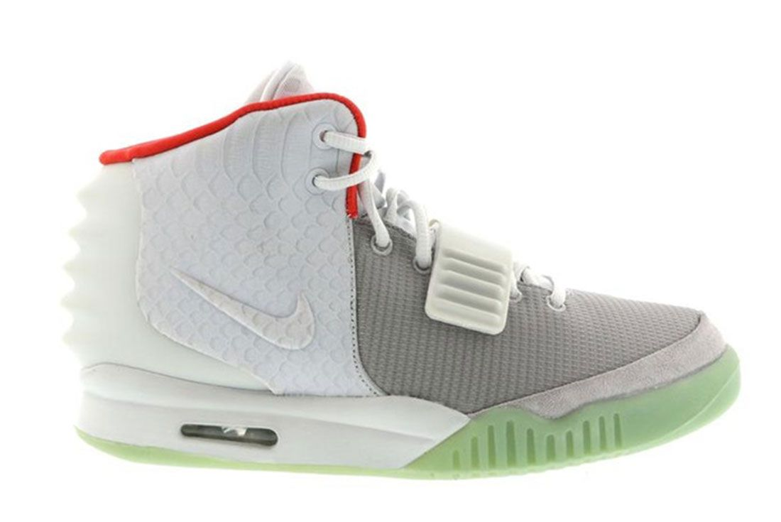 Nike Air Yeezy 2 Pure Platinum Lateral Side Shot