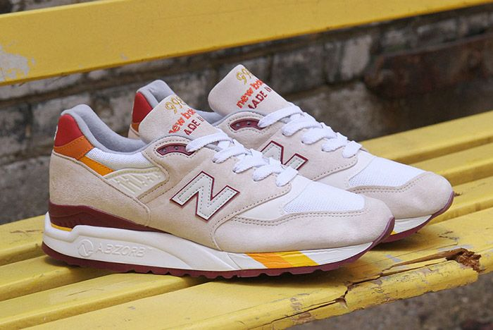 New Balance 998 White Burgundy Curry Made In Usa 5