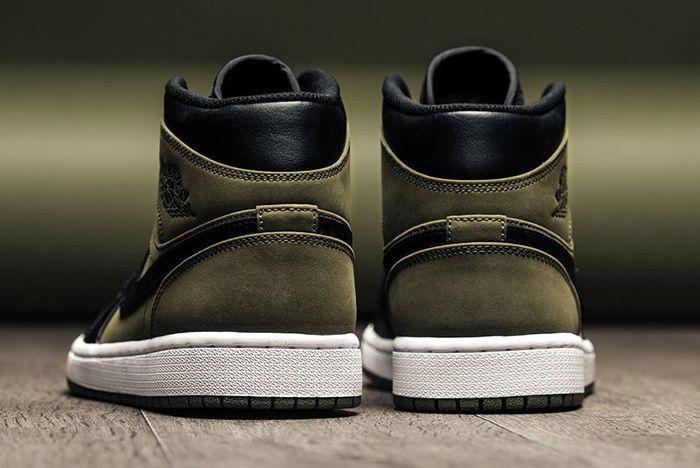 Air Jordan 1 Mid Olive Canvas 4
