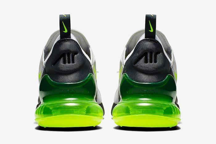 Nike Air Max 270 Platinum Tint Volt Heels