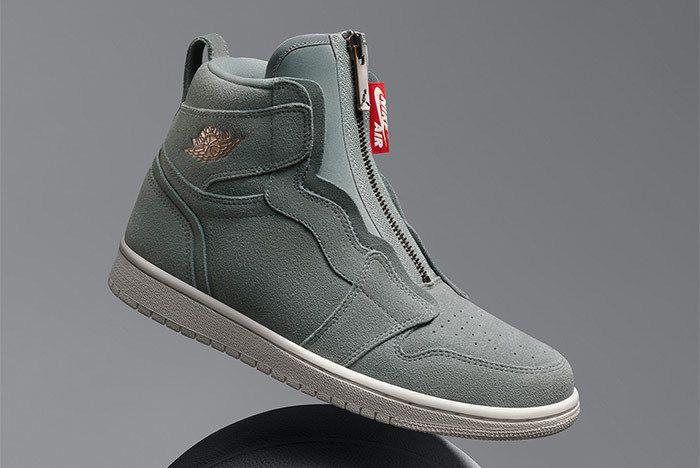 Air Jordan 1 Hi Zip Mica Green Suede