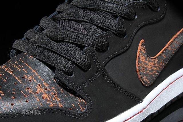 Nike Sb Dunk High Black Orange Distressed Orange 4