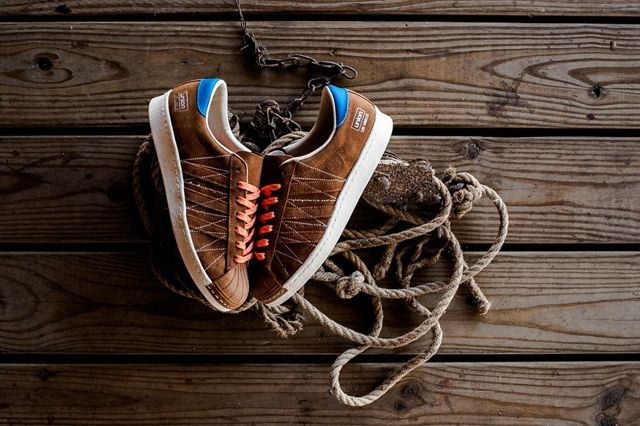 Union Los Angelos X Adidas Adi Super Star 80S Brown Suede Leather 4