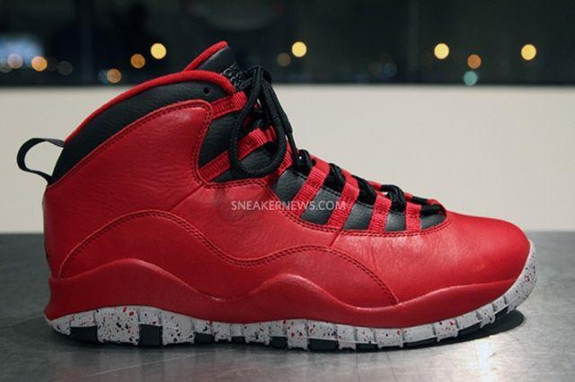 Air Jordan 10 Red Black