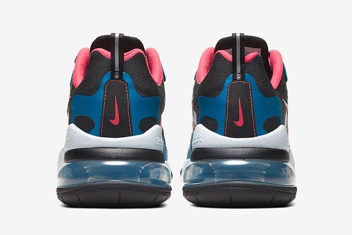 Nike Air Max 270 Reacts Script Swoosh Heel Shot