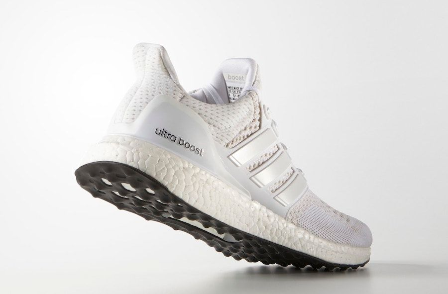adidas UltraBOOST Triple White Angled