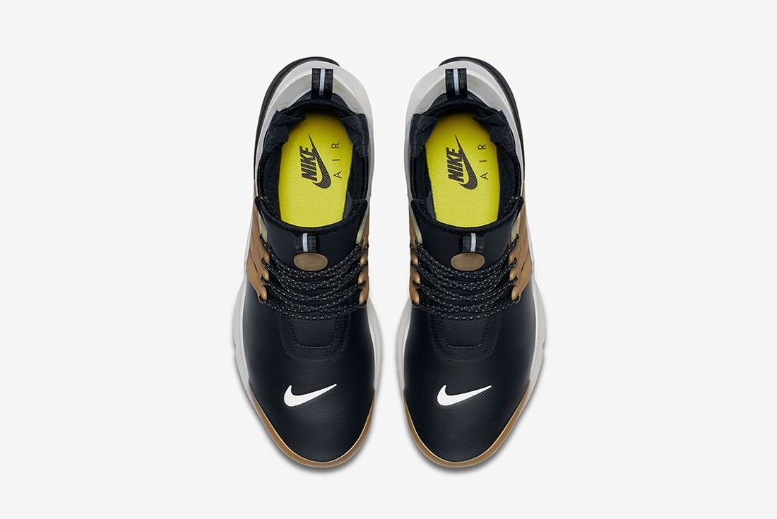 Nike Air Presto Utility Mid Black Yellow Gold 2