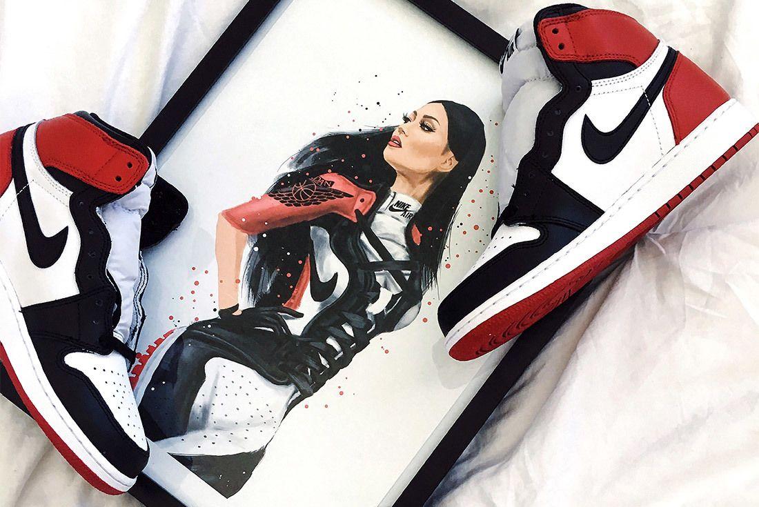 Reina Koyano Air Jordan 1 Black Toe
