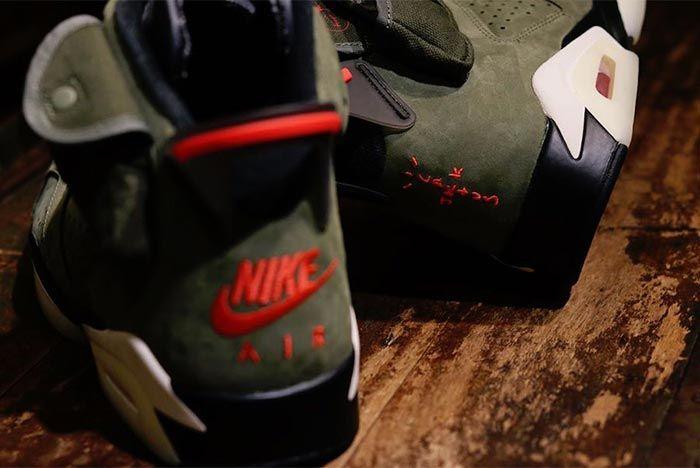 Travis Scott Air Jordan 6 Cn1084 200 2019 Close Up Branding Shot