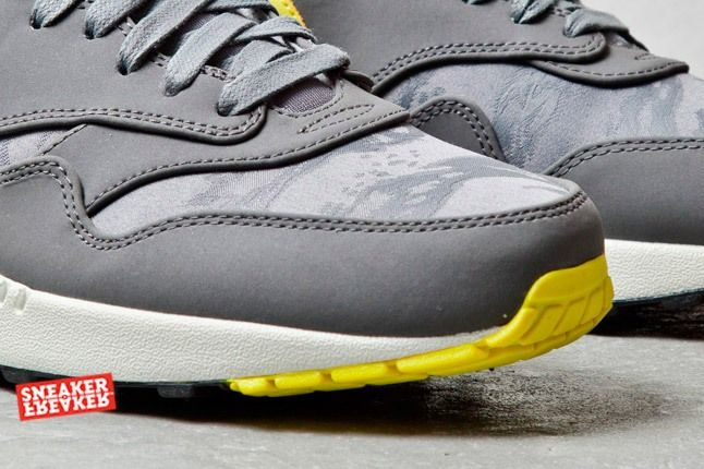 Nike Air Max 1 Prm Cool Grey Sonic Yellow Jaquard 2 Det