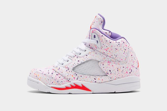 Air Jordan 5 Gs Easter Lateral