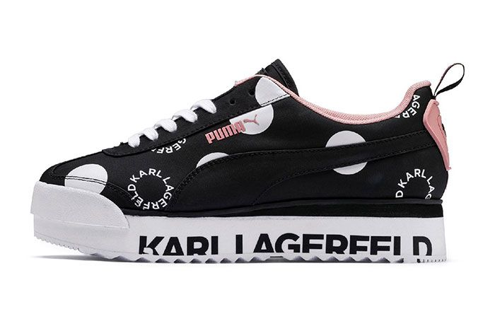 Karl Lagerfeld Puma Roma Pink Lateral Side Shot