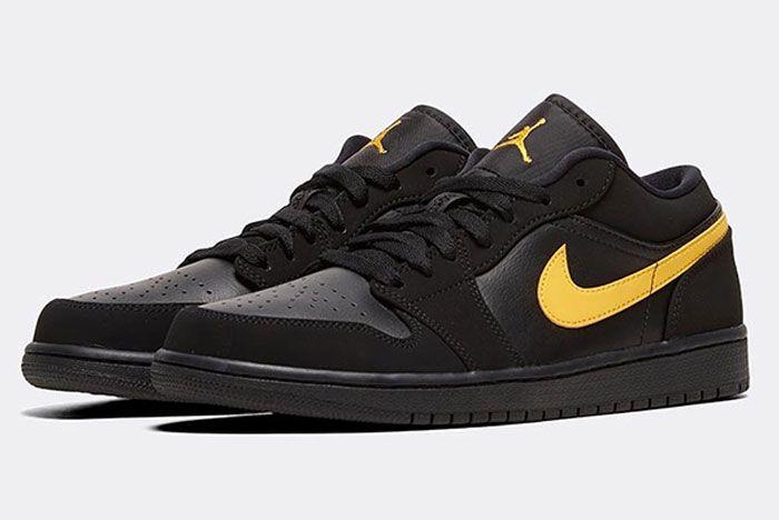 Nike Air Jordan 1 Low Gold Swoosh Toe