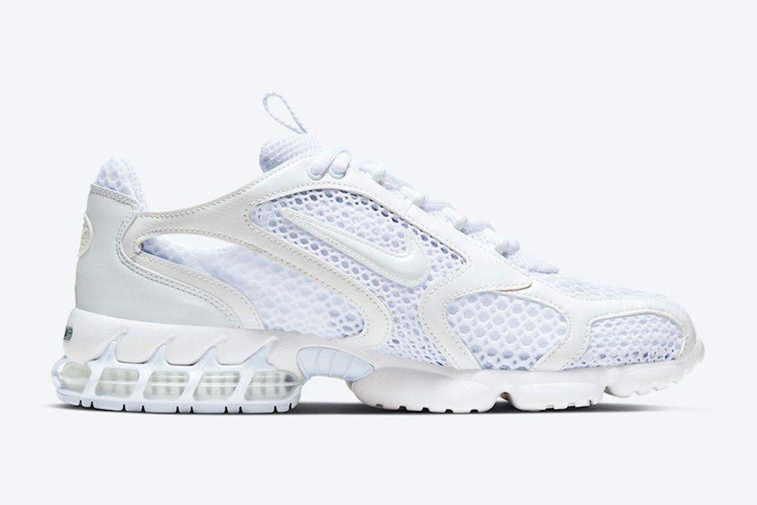 Nike Air Zoom Spiridon Caged White Medial