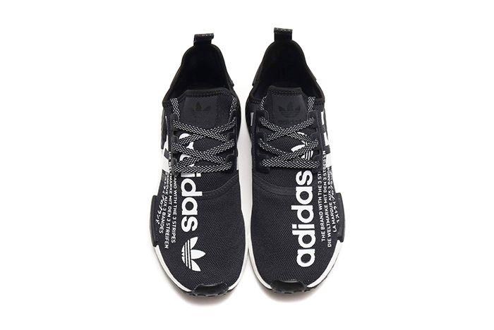 Atmos Adidas Nmd R1 Black White 3
