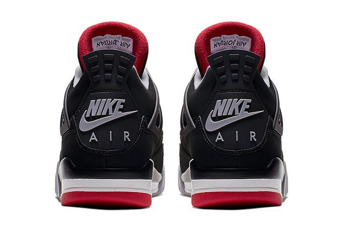 Air Jordan 4 Bred 2019 Retro 308497 060 Release Date Heel