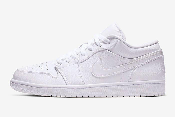 Air Jordan 1 Low Triple White 553558 112 Lateral