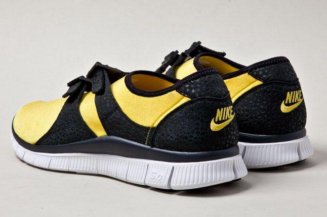 Nike Free Sockracer Yel Heels 1
