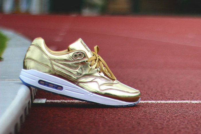 Nike Id Air Max 1 Olympic Medals Gold 1