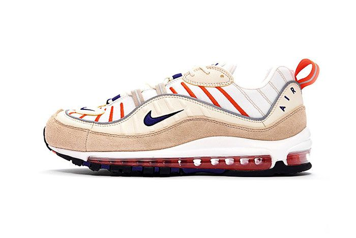 Nike Air Max 98 Sail Purple Cream Desert Side Shot 1