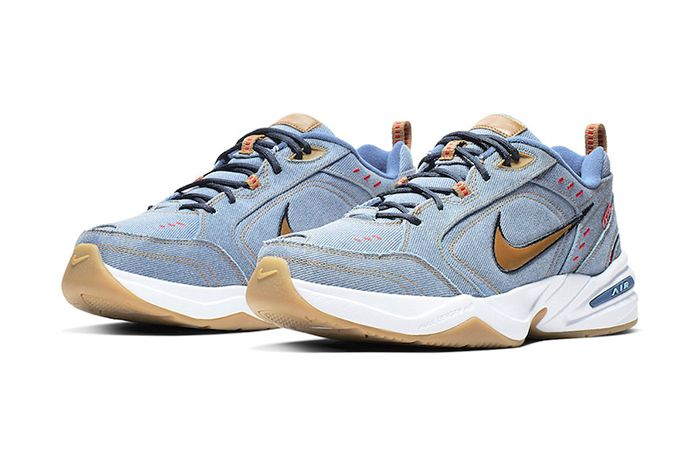 Nike Air Monarch 4 Denim Av6676 400 Release Date Pair