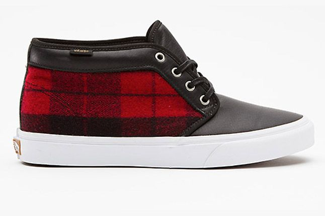 Vans Flannel Chukka Boot Ca Profile Side 1