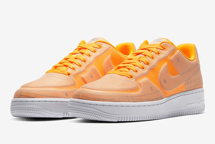Nike Air Force 1 Low Schematic Orange Front Full